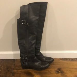 Sam Edelman over the knee black leather boots!